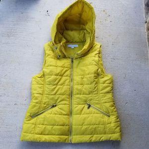 Neon Yellow Puffer Vest-meduum